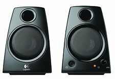 Logitech Speakers Compact Black Desktop Computer Laptop Speaker System Desk New