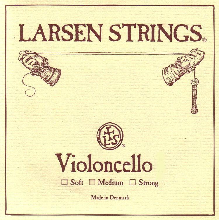 New Larsen 4 4 Cello String Set  Medium Gauge - FREE USA SHIPPING