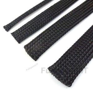 black braided sleeve sleeving cable harness sheathing expanding 3mm rh ebay com automotive wiring sleeve Automotive Wiring Diagrams