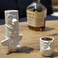 4 Kikkerland Totem Pole Stackable Party Shot Glasses Set Novelty Coffee Espresso on Sale