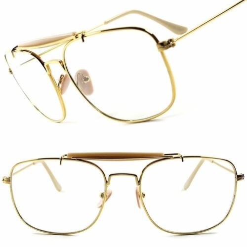 Classic Vintage Retro Style Photochromic Lens Gold Rectangle Square Sunglasses