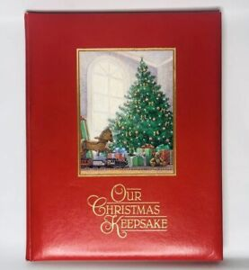 Vintage OUR CHRISTMAS KEEPSAKE Hallmark Book Of Memories Photos Songs 1987