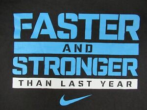 Nike-Swoosh-Faster-Stronger-Than-Ultimo-Anno-Medio-Nero-T-Shirt-C672