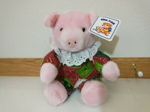 Royal Plush Christmas Pig Piglet Hog Stuffed Animal NWT Snowman Tree Pajamas