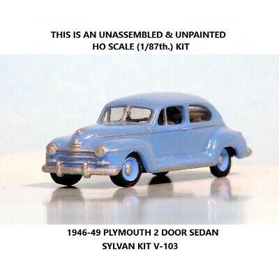 1946-49 PLYMOUTH 2-DOOR SEDAN by Sylvan HO SCALE Kit V-103