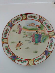 China-Familie-Rose-Style-Quality-Porcelain-Hand-Painted-Plate-8-1-4-034-Diameter