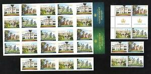 SET-of-5-GOVERNMENT-HOUSES-AUSTRALIA-STAMPS-GUTTER-BLOCK-BOOKLET-etc-MINT