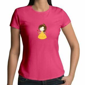 Disney-Princess-Belle-Beauty-and-Beast-Gift-Shirt-Juniors-Girl-Women-Tee-T-Shirt