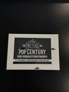 2020 Leaf Metal Pop Century 1/1 PROOF Pre-Production Factory Sealed Box-3 PROOFS