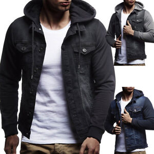 154e74e22 Hot Winter Men's Denim Slim Hoodies Hooded Sweatshirt Coat Jacket ...