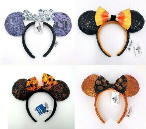 Disney Mickey Minnie Ears Halloween Haunted Mansion Candy Corn Headband Bow