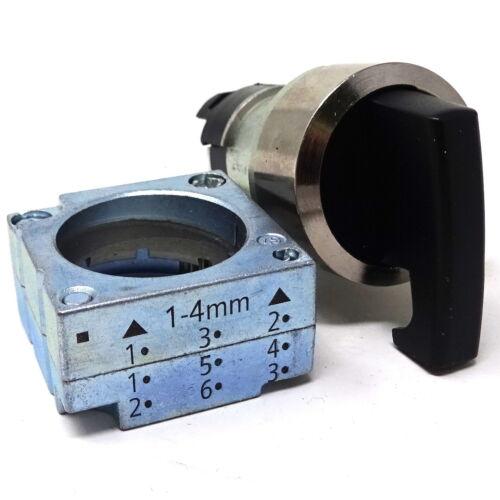 Selector Switch 3SB3500-3TA11 Siemens 3P Black 3SB35003TA11