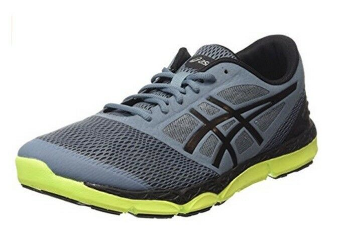Mens Asics 33-DFA 2 Sport Blue Mirage Black Lime Lace Up Running Trainers Seasonal price cuts, discount benefits