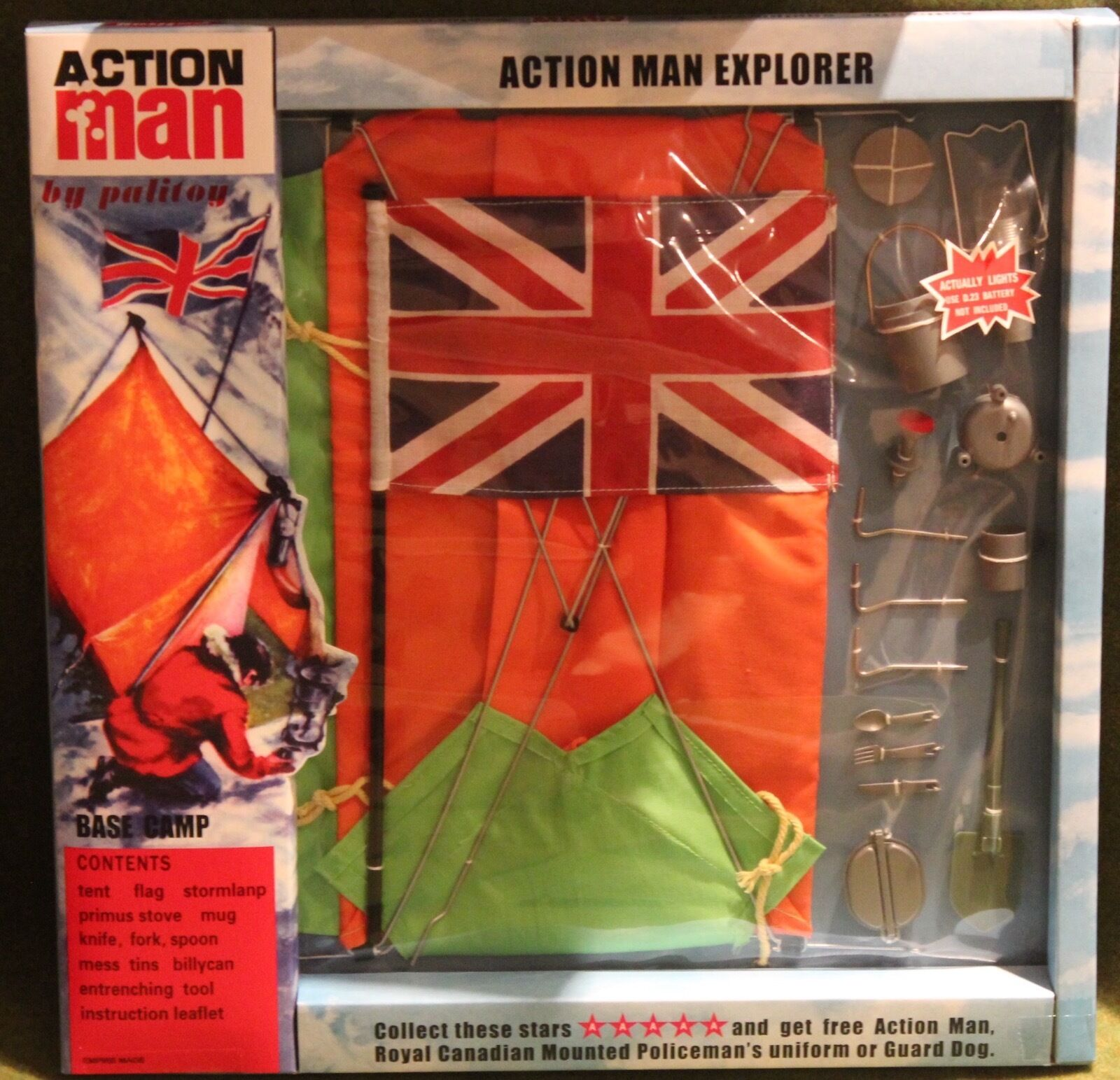 Vintage action man 40th anniversary explorer base camp carded boxed