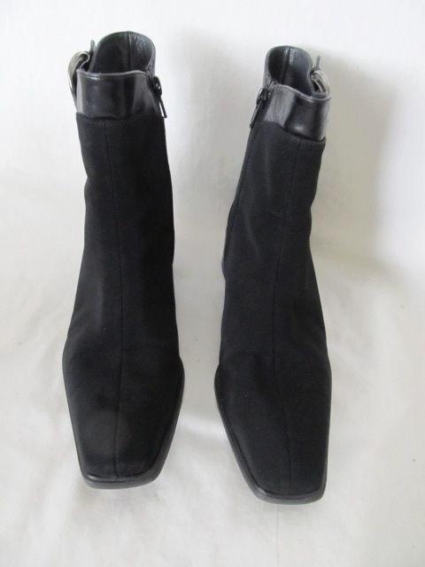 WOMEN'S SUEDE STUART WEITZMAN BUCKLE ANKLE Stiefel BLACK SUEDE WOMEN'S LEATHER ZIP-UP SIZE 7 3b6374