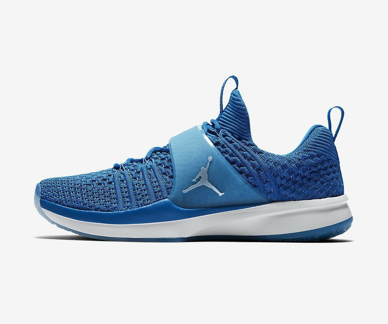 NIKE JORDAN TRAINER 2 FLYKNIT Trainers Gym Casual Fashion - UK 9 (EUR 44) - Blau   | Mode-Muster