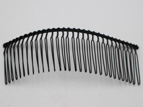 5 en Métal Noir 30-Dents Cheveux Côté peignes Clips 110X37mm pour Cheveux Accessoires À faire soi-même