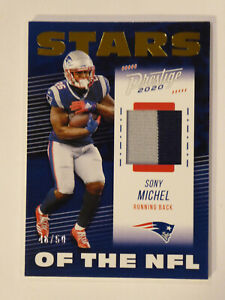 Details about 2020 Panini Prestige Stars of the NFL Prime /50 Sony Michel 2-Color Jersey Pats