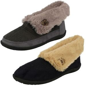 20cd4ad471a Image is loading Ladies-Padders-Memory-Foam-Boot-Slippers-039-Eden-