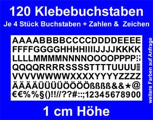 Buchstaben Zahlen Zeichen 1cm Klebebuchstaben Sticker