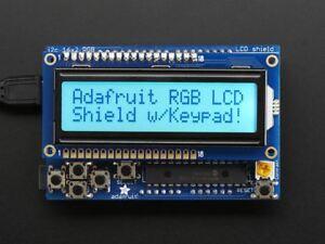 Adafruit RGB LCD Shield Kit w/ 16x2 Character Display [ADA716] 603149690226