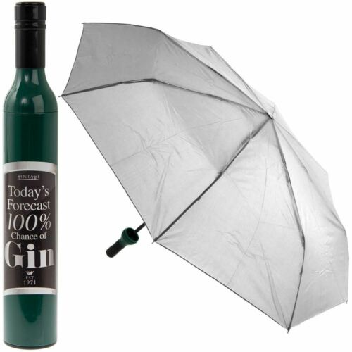 Compact Folding Umbrella 100/% Chance of Gin