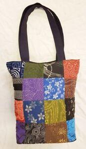 Thai-Handmade-Hippie-Hobo-Style-Shoulder-Bag-Prints-Cotton-Patchwork-Fabric