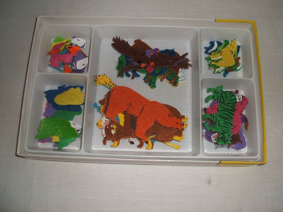 Andet legetøj, dyrefigurer af filt, Creative Kids
