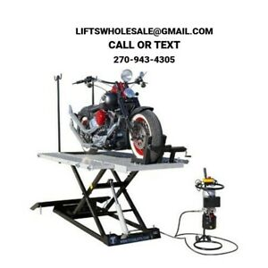 Details about Titan 1500 lbs  XLT Electric/Hydraulic Motorcycle Lift -  Front & Side Extensions