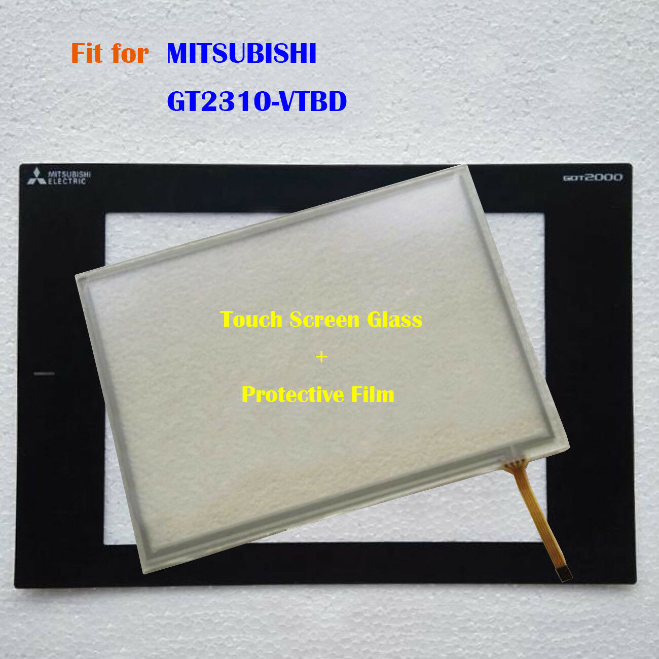 For MITSUBISHI GT2310-VTBD, GT2310VTBD Touch Screen Glass + Predective Film New