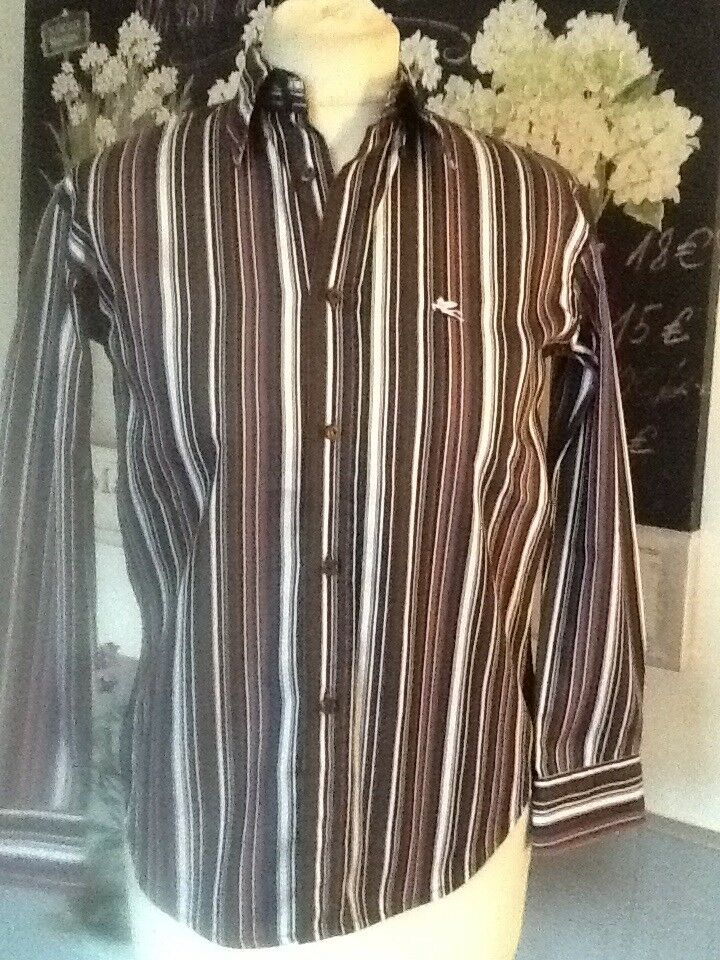 ETRO SHIRT BLOUSE STRIPPED FITTED