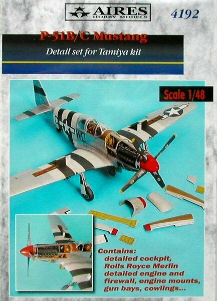 Aires 1 48  P-51B C Mustang Detail Set for Tamiya kit