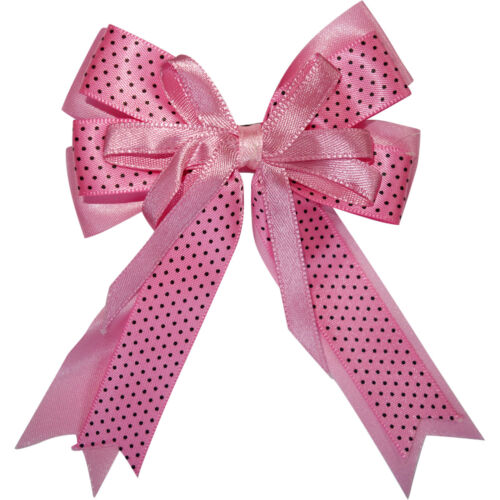 Pink Bow Hair Clip Ribbon Grip Clasp Barrette Girls Childrens Kids Accessories