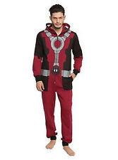 Marvel Deadpool Union Suit Pajama Mens Size XL Costume Sleepwear Cosplay Pjs