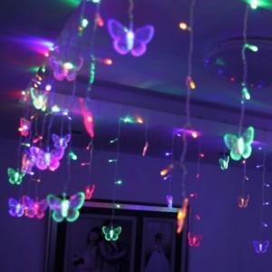 96-LED-Butterfly-Curtain-Fairy-String-Lights-Lamp-Xmas-Romantic-Wedding
