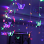 96-LED-Butterfly-Curtain-Fairy-String-Lights-Lamp-Xmas-Romantic-Wedding thumbnail 1