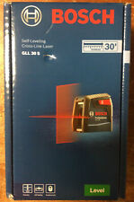 Bosch Gll 30 S Self Leveling Cross Line Laser Level With Flexible Mount New