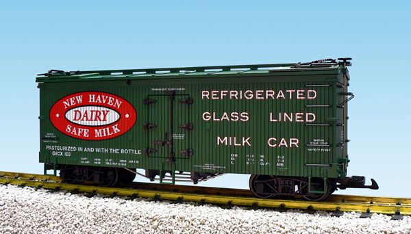 USA Trains G Scale R16353 NEW HAVEN DAIRY - verde  Reefer