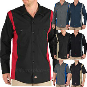 Image is loading Dickies-Work-Shirts-Men-Two-Tone-Industrial-Color- d4c56d327af