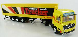 Volvo-Koffersattelzug-Fernfahrer-Trucker-Magazin-Herpa-1-87-H0-ohne-OVP-GE5-B2