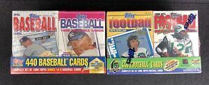 Lot-of-2-1996-TOPPS-Baseball-Football-Factory-SEALED-Sets-Namath-amp-Mantle