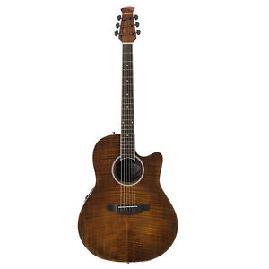 Ovation-Applause-Standard-Exotic-Acoustic-Electric-Guitar-Vintage-Flame