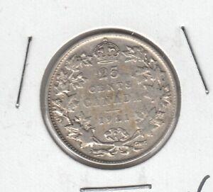 1921-Canada-Twenty-Five-Cents-Fine