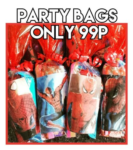 Spiderman VEGETARIAN halal sweets  prefilled party bags birthdays occasions