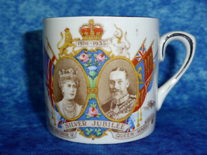 King-George-V-amp-Queen-Mary-Silver-Jubilee-VINTAGE-CUP-by-Empire-1910-35-Royal
