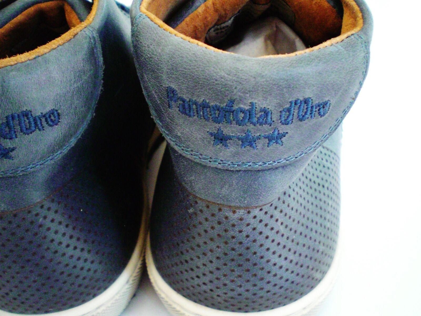 PANTOFOLA D'ORO  / HALBSCHUHE  LEDER  BLAU /  GRAU  NEU Grösse : 41 ad4eaa