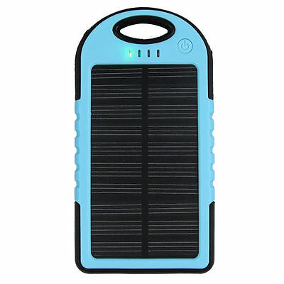 5000mah 2 USB Waterproof Solar Power Bank Battery Charger for Cell Phone Charge