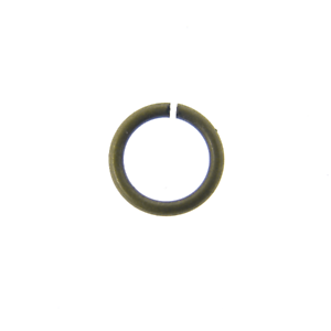 200pk 5mm Thin Jump Ring 0.8mm - Antique Brass Plated