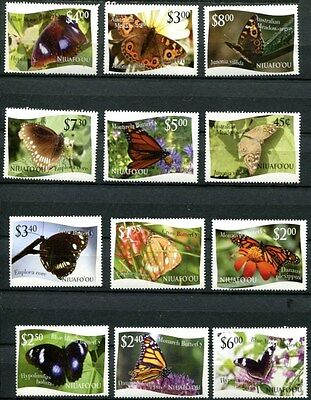 TONGA-NIUAFO'OU 2012 BUTTERFLIES COMPLETE MINT SET OF 12 STAMPS - $54.00 VALUE!