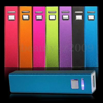 2600mAh Portable External Backup Power Bank Battery Charger For Mobile Phones